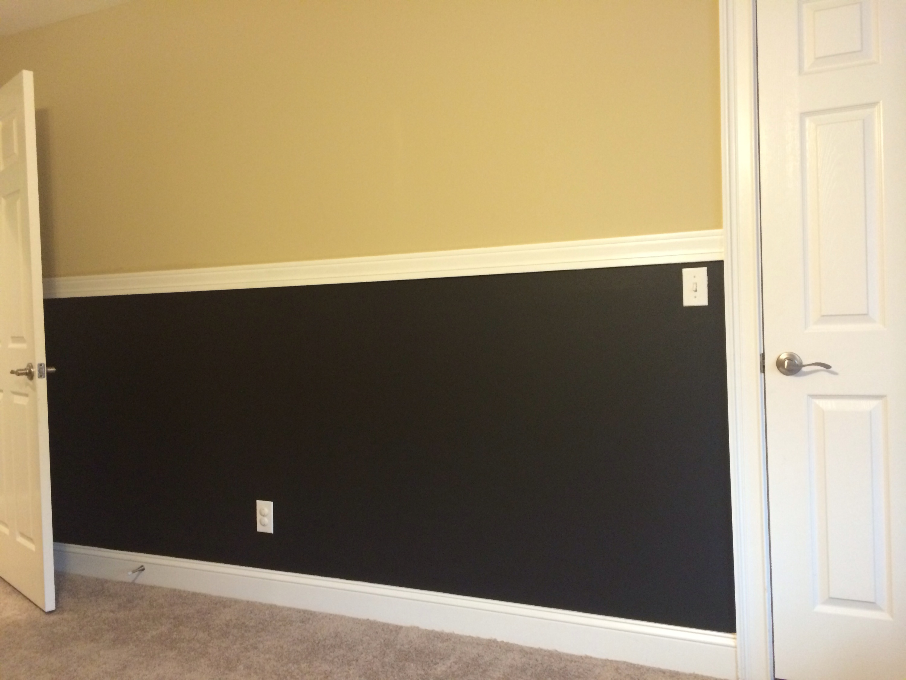 The Evolution Of Our Chalkboard Wall - Unboxed Mom