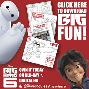 Big Health Tips from Disney's Baymax and Big Hero 6