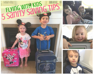 5 Sanity Saving Tips When Flying With Kids