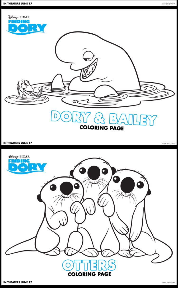 Printable coloring pages dory - Click Here To Download Finding Dory Connect The Dots Pages
