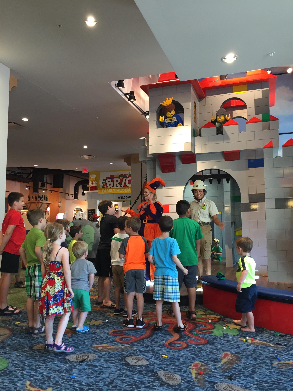 Legoland Florida Resort lobby entertainment