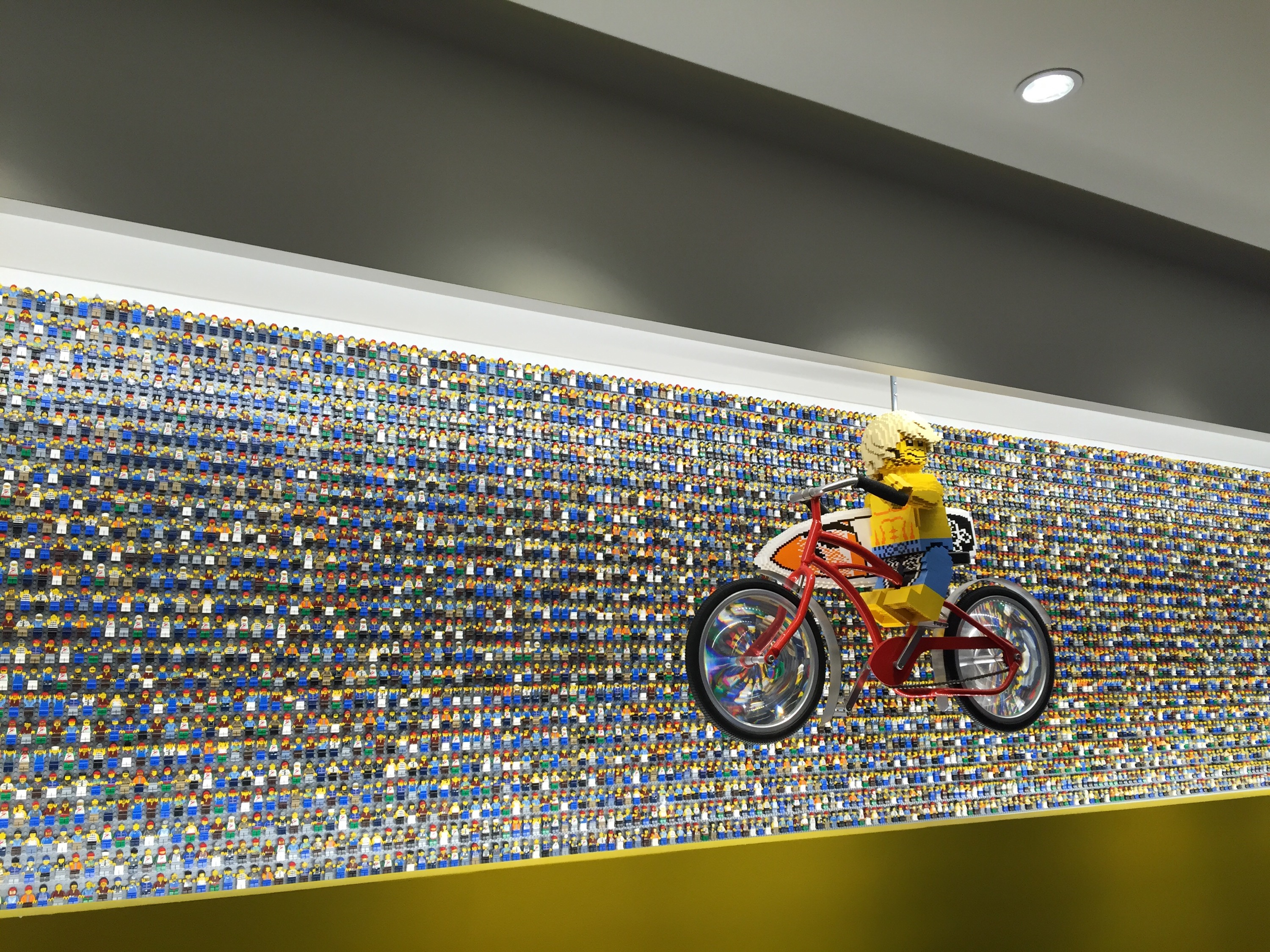 Legoland Florida Resort minifigure wall in lobby