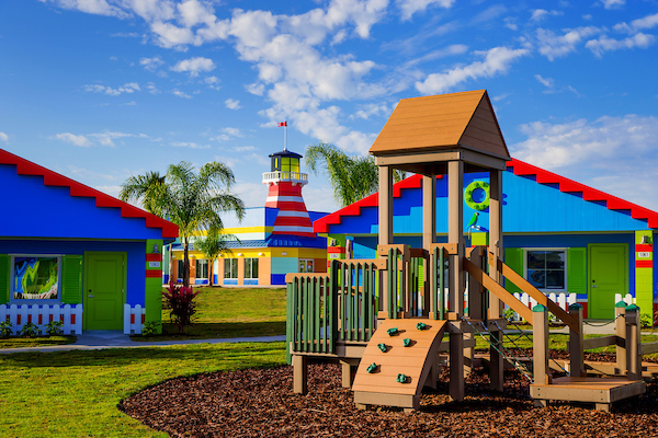 WINTER HAVEN, FL -- February 8, 2017 -- The new bungalows and playground LEGOLAND Beach Retreat at LEGOLAND Florida Resort. (PHOTO / LOCK + LAND, Chip Litherland for LEGOLAND Florida Resort)