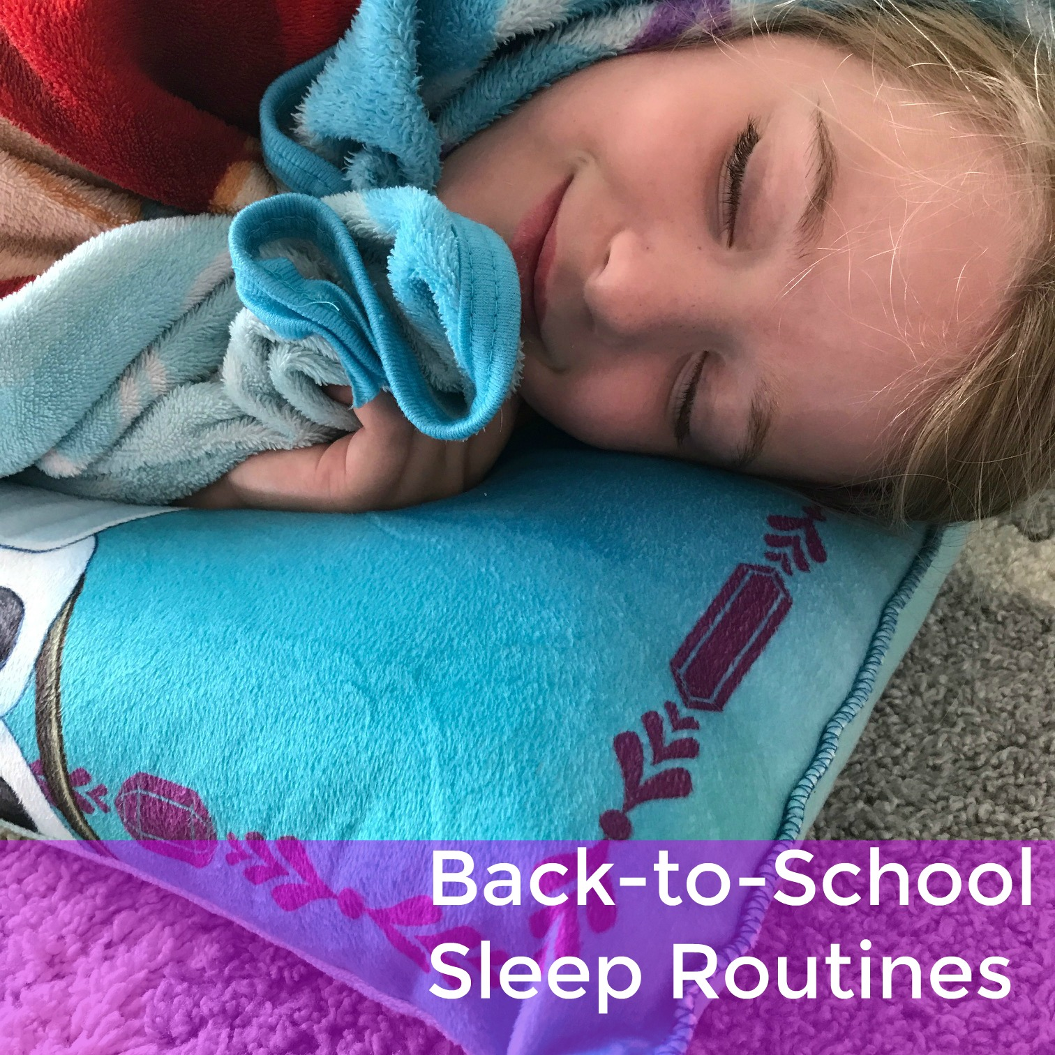 We're working our way through the early days of a new school year, friends. The back to school  routine and getting enough sleep struggle is real, but here are some tips.